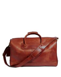Brooks Brothers | Brown J.w. Hulme Leather Small Duffel Bag for Men | Lyst