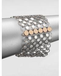 John Hardy - Metallic Sterling Silver & 18K Yellow Gold Wide Dot Bracelet - Lyst