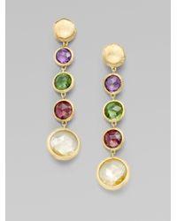 Marco Bicego | Metallic Jaipur Semi-precious Multi-stone & 18k Yellow Gold Drop Earrings | Lyst