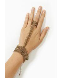 Nasty Gal - Metallic Chainmail Handpiece - Lyst