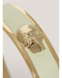 Alexander McQueen | White 3d Enamel Skull Bangle | Lyst