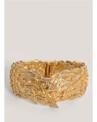 Alexander McQueen | Metallic Wing Skull Bangle | Lyst
