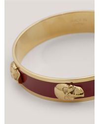 Alexander McQueen - Red 3d Enamel Skull Bangle - Lyst