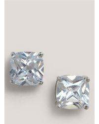 CZ by Kenneth Jay Lane - Metallic Crystal Earrings - Lyst