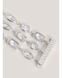 CZ by Kenneth Jay Lane | Metallic Three-row Bracelet | Lyst