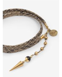 Ela Stone - Brown Snakeskin-effect Wrap Bracelet - Lyst