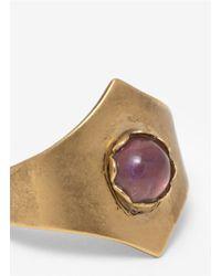 Ela Stone - Metallic Round-stone Ring - Lyst