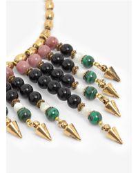 Ela Stone - Metallic Stone Bead Necklace - Lyst