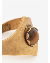 Ela Stone - Metallic Stone Brass Ring - Lyst