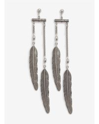 Ela Stone | Metallic Leaves Chain Earrings | Lyst