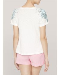 Elizabeth and James - White Adina Printed Cotton T-shirt - Lyst