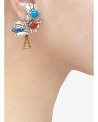 Erickson Beamon   Multicolor Nexus Flower Earrings   Lyst