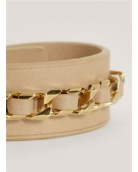 Givenchy - Natural Shark-tooth Braided Leather Bracelet - Lyst