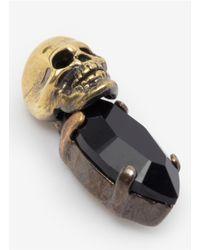 Iosselliani - Metallic Stone And Skull Earrings - Lyst