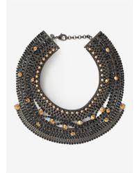Iosselliani | Black Stud-and-rhinestone Necklace | Lyst
