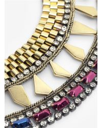 Iosselliani | Multicolor Multi-coloured Stone Collar Necklace | Lyst