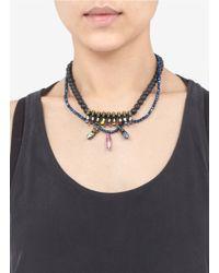 Iosselliani - White Skull Doublestrand Necklace - Lyst