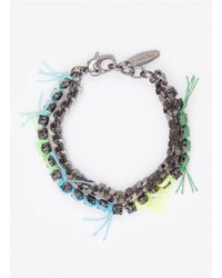 Joomi Lim | Multicolor Double-row Crystal-and-chain Bracelet | Lyst