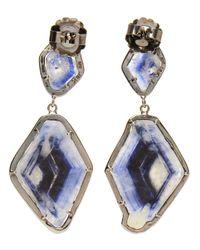 Kimberly Mcdonald - Blue Double Sapphire Slice and Diamond Drop Earrings - Lyst