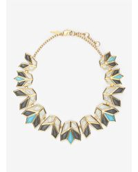 Lele Sadoughi | Metallic Lotus Necklace | Lyst