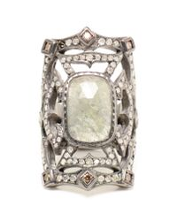 Loree Rodkin | Gray Medieval Diamond And Sapphire Ring | Lyst