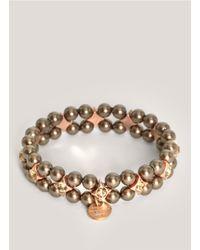 Philippe Audibert - Gray Two-row Grey Pearl Bracelet - Lyst