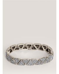 Philippe Audibert | Blue Crystal-embedded Triangle Bead Bracelet | Lyst
