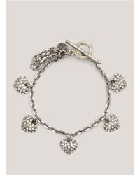 Philippe Audibert | Metallic Crystal-embellished Heart Bracelet | Lyst
