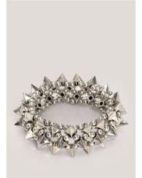 Philippe Audibert - Metallic Tworow Spike Bracelet - Lyst