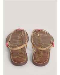 e4136f6fc5ebf9 Lyst - Sam Edelman Gigi Leather Sandals in Pink