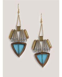 Scho | Blue Arrow Earrings | Lyst