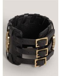 Thomas Wylde - Black Warrior Of Light Leather Bracelet - Lyst