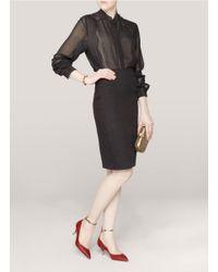 Valentino - Red Studded Narrow Leather Bracelet - Lyst