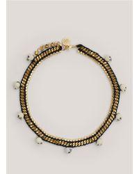 Venessa Arizaga | Black 'fool's Gold' Skull Bead Necklace | Lyst