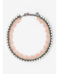 Venessa Arizaga - White 'pretty In Pink' Necklace - Lyst