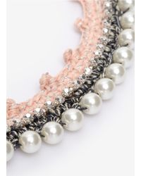 Venessa Arizaga | White 'pretty In Pink' Necklace | Lyst