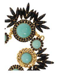 Elizabeth Cole - Metallic Gold Plated Swarovski Crystal Necklace - Lyst