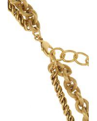 Elizabeth Cole - Metallic Kissing Ram Gold-Plated Swarovski Crystal Necklace - Lyst