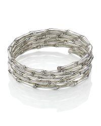 John Hardy | Metallic Bamboo Five Coil Bracelet | Lyst