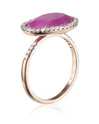 Meira T - Pink Sapphire Ring - Lyst