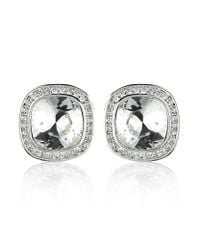 Swarovski | Metallic Simplicity Crystal Earrings | Lyst
