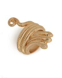BaubleBar - Metallic Gold Medusa Ring - Lyst