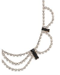BaubleBar - White Ice Drape Necklace - Lyst