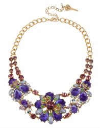 Betsey Johnson | Purple Antique Floral Necklace | Lyst