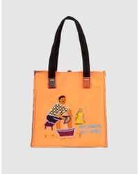 Carmina Campus | Orange Medium Fabric Bag | Lyst