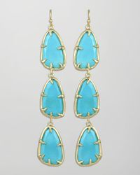 Kendra Scott - Blue Lillian Drop Earrings - Lyst