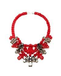 EK Thongprasert - Red Silver Dagger Necklace - Lyst