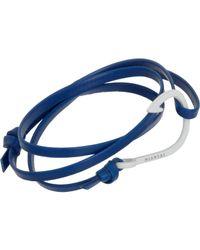 Miansai | Blue Enamel Anchor Wrap Bracelet for Men | Lyst