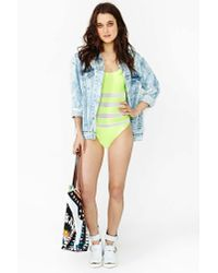 Nasty Gal - Yellow Body Electric Swimsuit - Lyst