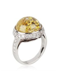 Royal Asscher | Yellow Stars Of Africa Gold and Diamonds Ring | Lyst